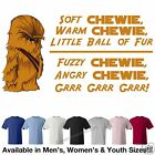 "Star Wars Soft Chewie #2 ""Wookie"" ""Big Bang Theory"" T-Shirt 7 Colors M/W/Y Sizes"