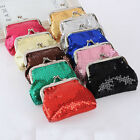 NEW Fashion 9*7cm Women Girl Small Sequins Brilliant Purse Coin Wallets Bags