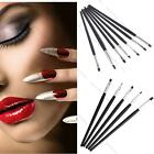 5, 7Pcs Pro Nail Art Decor Tool Pen Acrylic Uv Gel Professional Flat Brush Set