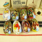 New Small Metal Tin Container Easter Eggs Gift Candy Jewelry Storage Box Case