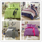 Stripes Single/Double/Queen Bed Linen Quilt/Doona/Duvet Cover Set New Polyester