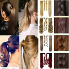 """18""""24"""" Long ponytail clip in hair extensions black brown blonde natural hair 4I0"""
