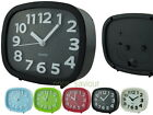 12cm Rectangle Oval Plastic Analog Desk Alarm Clock with Embossed Number Marking
