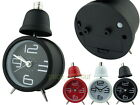 Single Bell Metal 8cm Analog Alarm Clock with Light Modern Large Number Marking