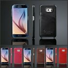 Leather Hard Card Slot  Back Case Cover For Samsung Galaxy S6