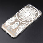 New Arrival Hollow Henna Skin Case Feather Pretty Cover for iPhone 5 5S 6