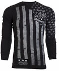 ARCHAIC AFFLICTION Mens LONG SLEEVE THERMAL Shirt NATION American USA FLAG $58 a image