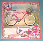 Handmade Greeting Card 3D All Occasion With A Pink Bike