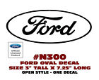 "N300 FORD OVAL DECAL - 3"" Tall x 7.25"" Long - OPEN STYLE - LICENSED"