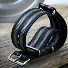 G10 NATO ZULUDIVER Striped Nylon Military Watch Strap 18 20 22mm Satin Finish