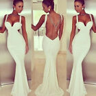 2015Women Sexy Backless Mermaid Prom Cocktail Ball Gown Evening Bandage Sundress
