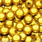 acrylic miracle beads, round, yellow, options for size of 4, 6, 8, 10, 12 mm*