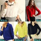 Nice Women's Loose Long Sleeve Chiffon Casual Blouse Girl Shirt Tops Lady Blouse