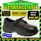 Wide Load 'Low Loader' Orthotic Lace Up, Black Derby Shoe, Soft Toe Non-Safety