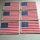 6 UNITED STATES Flag Military Patch With VELCRO® Brand Fastener White Border #9