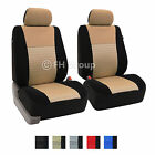 Pair Bucket Fabric Seat Covers for Detachable Headrest Seats Airbag Safe