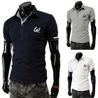 Big Sale~Mens Slim Fit Short Sleeve Polo Shirts T Shirt Leisure Tees Shirts Tops