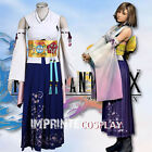 Final Fantasy X 10 Yuna Summoned Deluxe Cosplay Costume Full Set FREE P&P