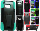 For HTC One M9 Advanced HYBRID KICK STAND Rubber Case Phone Cover + Screen Guard