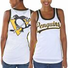 Women's White Pittsburgh Penguins Opening Day Mesh Slim Fit Tank Top