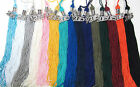 "Graduation Tassel SILVER CHARM 9"" Solid colors Cap & Gown High School College"