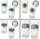 Choose NBA Team 2PC 16oz. Pint Ale Beer Glass Set w/ Basketball Sculpted Bases