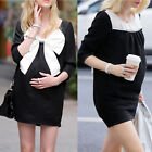 Fashion Maternity Casual Dress Bow Blouse Pregnant Women Pregnancy Clothing tops