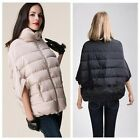 2Color Women Warm Winter Bat Sleeve Down Coat Outerwear Thicken Jacket Parka -LJ