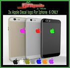 3x Apple Logo Skin Sticker Decal Film for iPhone 6/6s /7/8/9/x/11