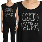 TheMogan Casual Chic Letters Print Modal Loose Fit Dolman Crop Top
