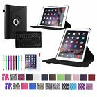 For 2014 Apple iPad Air 2 PU Leather 360 Slim Case Cover+Bluetooth Keyboard/Film