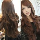 New Womens Fashion Long Curly Wavy Full Wigs Party Hair Wig Cosplay Costume Wigs