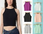Summer Women Sleeveless Top Tank Casual Short Vest T-Shirt Blouse New Solid Tops
