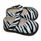 NEW Girls ZEBRA Leather Squeaky  Shoes size 4-8 shoe