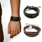Adjustable Unisex Multilayer Wrap Synthetic Leather Braided Rope Bracelet gifts