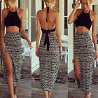 New Womens Crop Top and Skirt Clothing Set Two-piece Clubwear Bodycon Dress