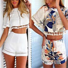 2Pcs Tassel Jumpsuit&Rompers Summer Women Cocktail Beach Party Playsuit Shorts