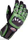 GREEN Leather Motorbike Motorcycle Gloves 4 KAWASAKI NINJA BIKERS -LAST FEW LEFT