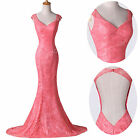 NEW Mermaid Wedding Evening Dress Long Party Prom Formal Pageant Bridesmaid Gown
