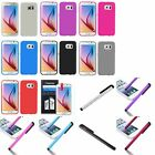For Samsung Galaxy S6 New TPU Soft Gel Rubber Skin Back Phone Case+Stylus+Film