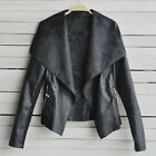 BIG SALE!! Womens Short Faux Leather Jacket Coat Motorcycle Outerwear NEW XS~2XL