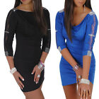 FREE SHIP BLACK BLUE SEXY Hips-Wrapped Evening Prom Party Short Dress SIZE XS-M