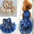 Chic Dog Pet Apparel Bow Tutu Wedding Party Puppy Princess Dress Skirt Clothes H
