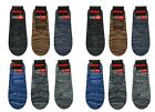 12 Pairs Men Loafer Boat Invisible No Show Low Cut Modern Socks #SdyeM 10-13