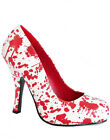 Pleaser Funtasma Costume Halloween Goth Bloody Heel Blood Splatter Shoes Horror
