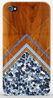 Cover Case iPhone 4 4S 5 5S / Galaxy S3 S4 S5 - STAMPA LEGNO WOOD BLU - ZZ116