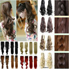 Drawstring wrap around clip in hair extensions straight curly ponytail style 1P7