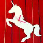 CUSTOM COLOUR Unicorn Laser Cut Acrylic Wall Clock - Fantasy Kitsch Retro Fun
