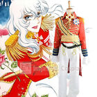 The Rose of Versailles Lady Oscar Red Military Uniform Cosplay Costume FREE P&P