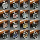 Natural Gemstones Czech Crystal Wishing Bottles Pendant Necklace Beads Silver